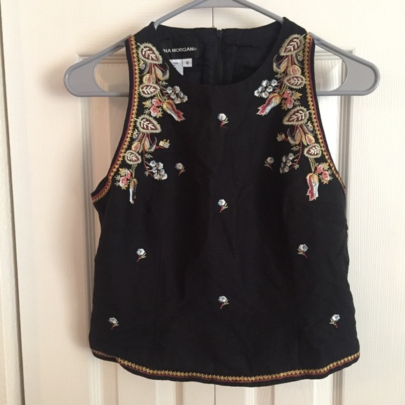 ccc23bad21 Donna Morgan Tops - Donna Morgan size 8 gorgeous embroidered blouse
